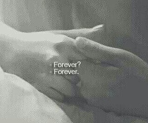 black and white, couple, and forever image