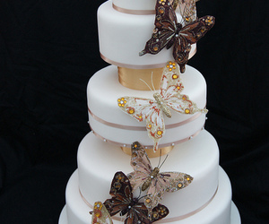 butterflies, cake, and ivory image