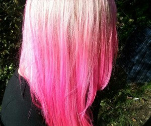 beautiful, pink hair, and blonde image