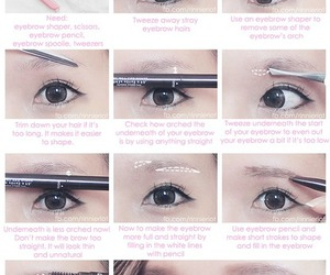 turorial, eyebrow tutorial, and maquillaje image