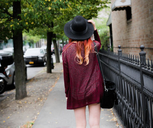 hat and red hair image