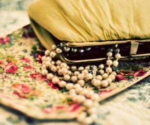 pearls, vintage, and purse image