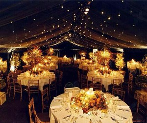 wedding ideas, wedding decorating ideas, and light decoration image