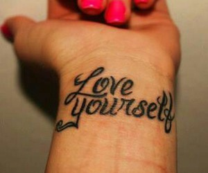 tattoo, love, and love yourself image