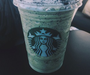 starbucks, frappe, and green image