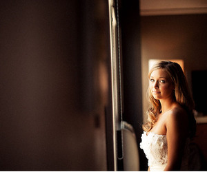 bride, girl, and lighting image