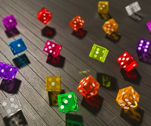 dice, photography, and colors image