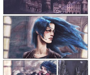 angel, dibujo, and hair blue image