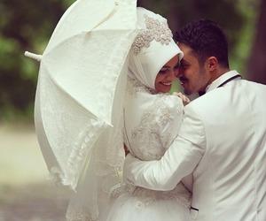 love, muslim, and wedding image