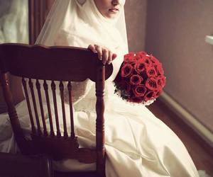 hijab, islam, and bride image
