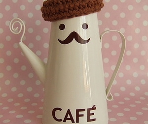 cafe, coffee, and mustache image