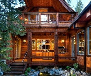 alone, forest, and dream house image