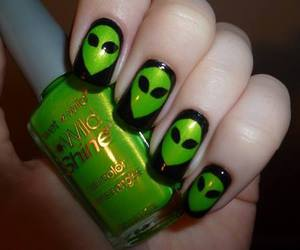 alien, nails, and green image