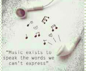 earphone, music, and quote image