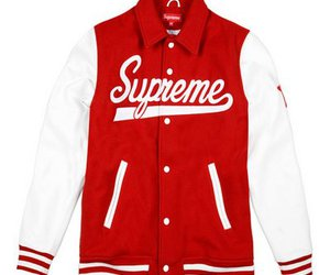 supreme, jacket, and red image