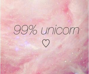 unicorn, pink, and heart image