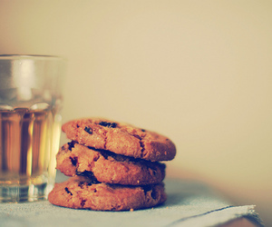 Cookies, drink, and glass image
