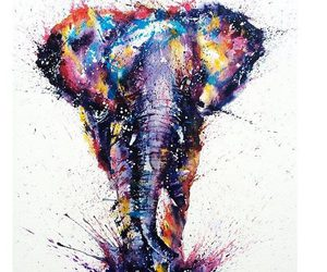 art, elephant, and animal image