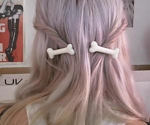 cute hair, hair, and purple image