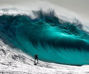 wave, summer, and surf image