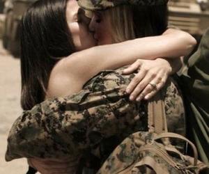 love, kiss, and lesbian image