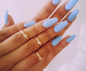 blue, fashion, and rings image