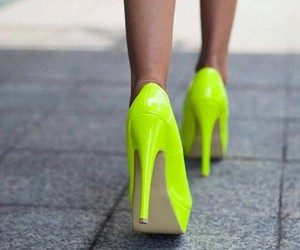 neon, heels, and shoes image