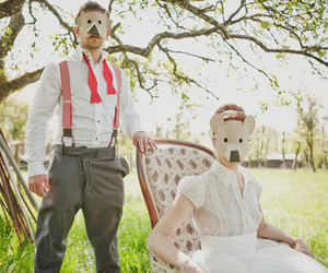 classic, couple, and mask image