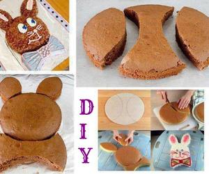 cake, food, and rabbit image