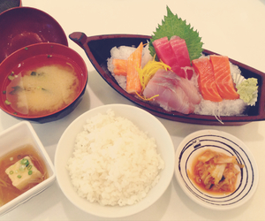 fish, miso soup, and soup image