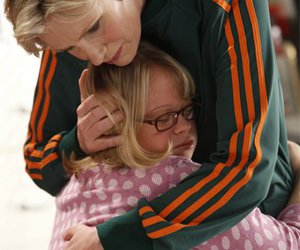 glee, becky, and sue sylvester image