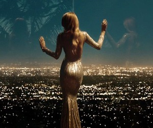 dress, city, and gold image