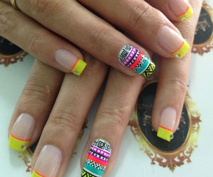beautiful, nail, and yellow image