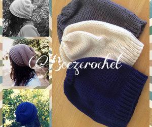 beanie, etsy, and knitting image