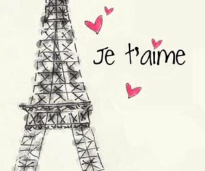 paris, je t'aime, and france image