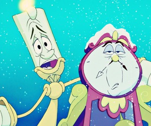 beauty and the beast, disney, and lumiere image