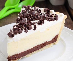 chocolate, pie, and vanilla image
