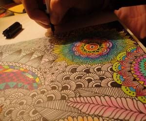 art, colores, and mandala image