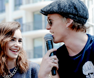 jamily, Jamie Campbell Bower, and lily collins image