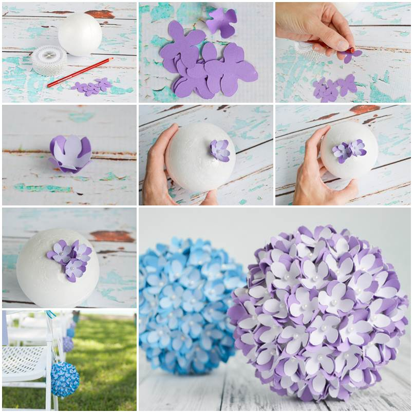Creative Ideas Diy Paper Flower Kissing Ball For Wedding With