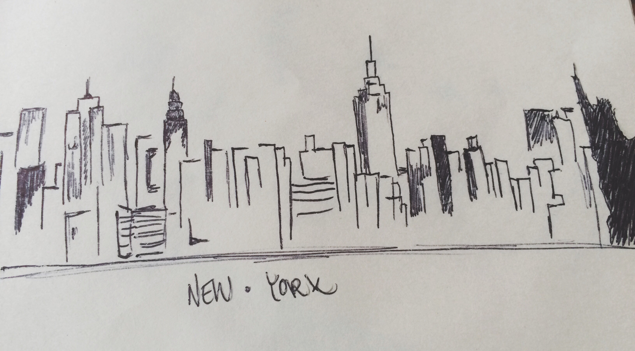 Line Drawing Nyc : A new york drawing by my friend💘 on we heart it