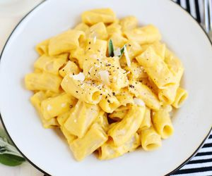 pasta, macaroni and cheese, and butternut squash image