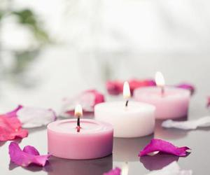 candle, pink, and romantic image
