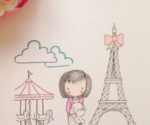 drawing, paris, and cute image