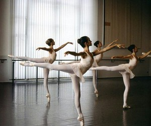 ballet, practise, and dance image
