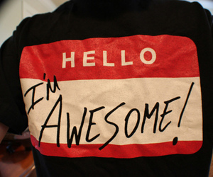 awesome, hello, and text image