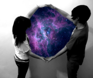 galaxy, boy, and space image