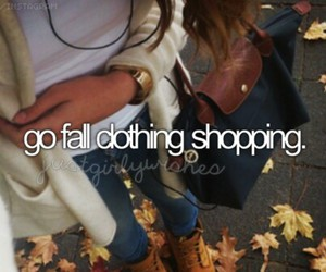 fall and shopping image
