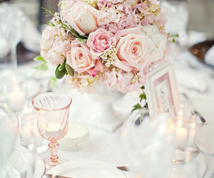 rose, flowers, and wedding image