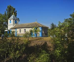 church, countryside, and moldova image